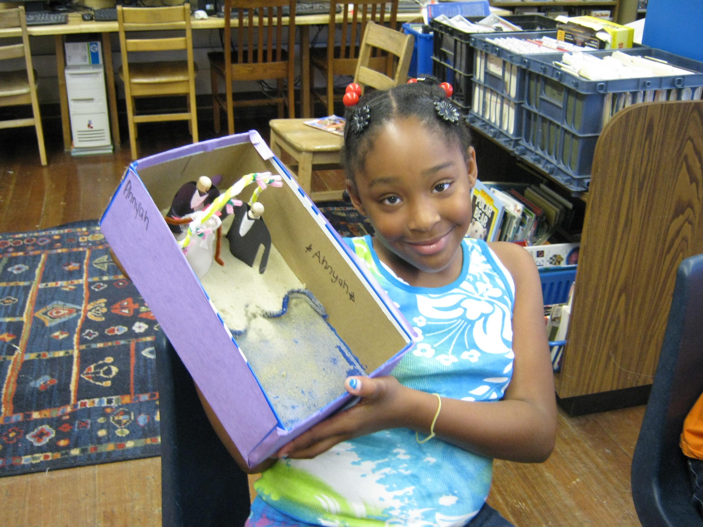 book report diorama