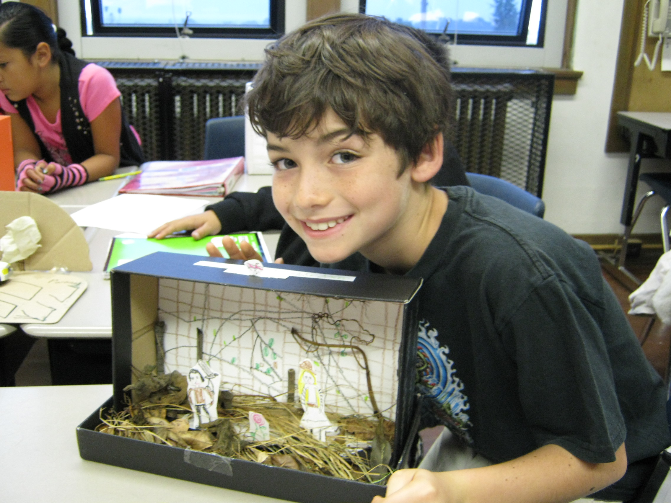 shoebox diorama book report Book report s  your assignment is to design a shoe box diorama related to  your book    erts inside box: the inside of your diorama must reflect.